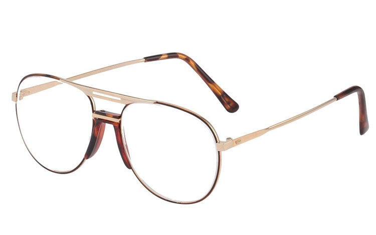 Metal brille i aviator design.  - Design nr. b126
