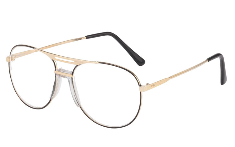Metal brille i aviator design.  - Design nr. b127