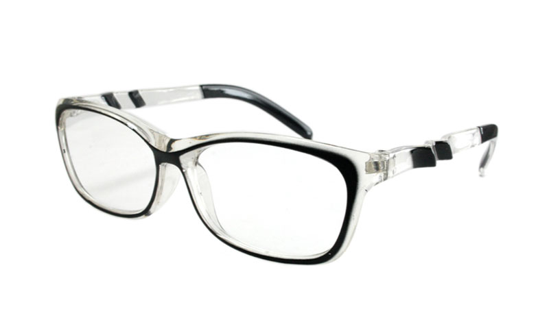 Sort / transparent brille m/ sjov  - Design nr. b138