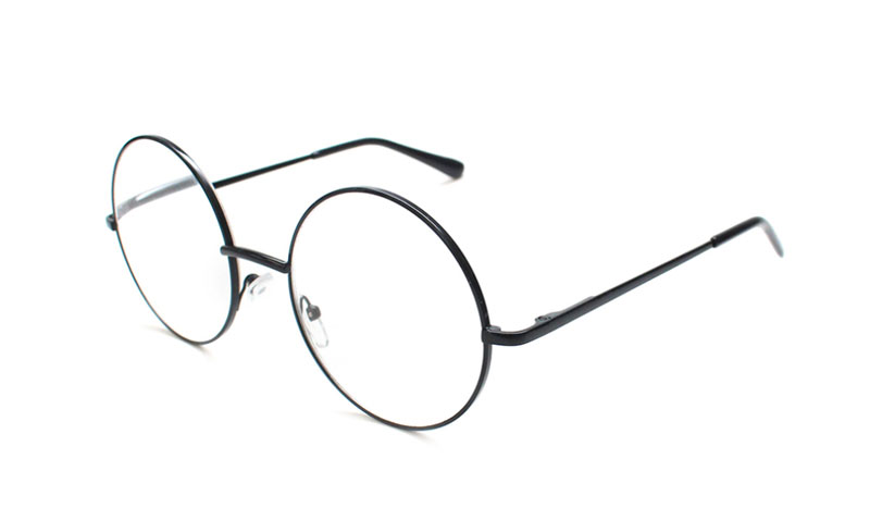 Smart moderigtig brille i rundt sort metal stel - Design nr. b153