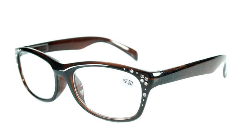Mørkbrun brille i let cat-eye design med similisten - Design nr. b156