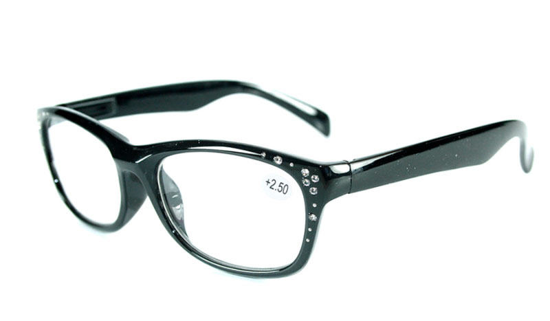 Sort brille i let cat-eye design med similisten - Design nr. b157
