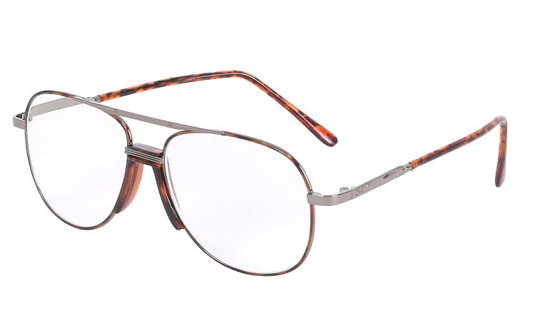 Smart metalbrille i retro design med næsestøtte - Design nr. b163