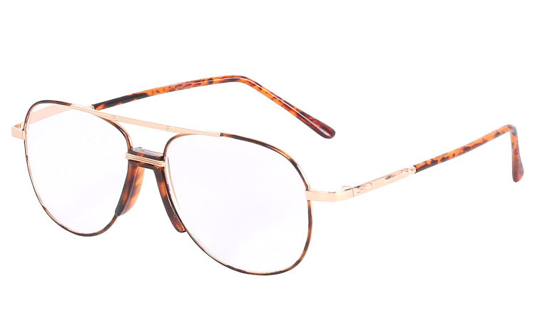Smart retro metalbrille i guldfarvet stel - Design nr. b164