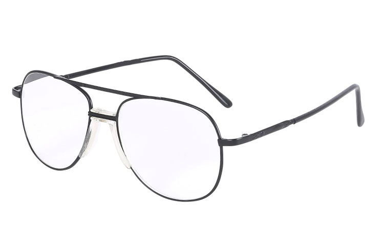 Smart retro metalbrille i sort stel - Design nr. b165