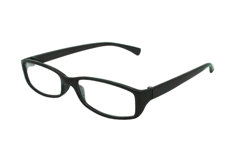Sort hverdags brille i enkelt design - Design nr. b190