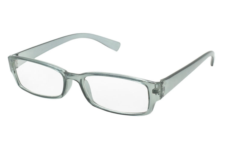 Grå transparent brille med styrke - Design nr. b234