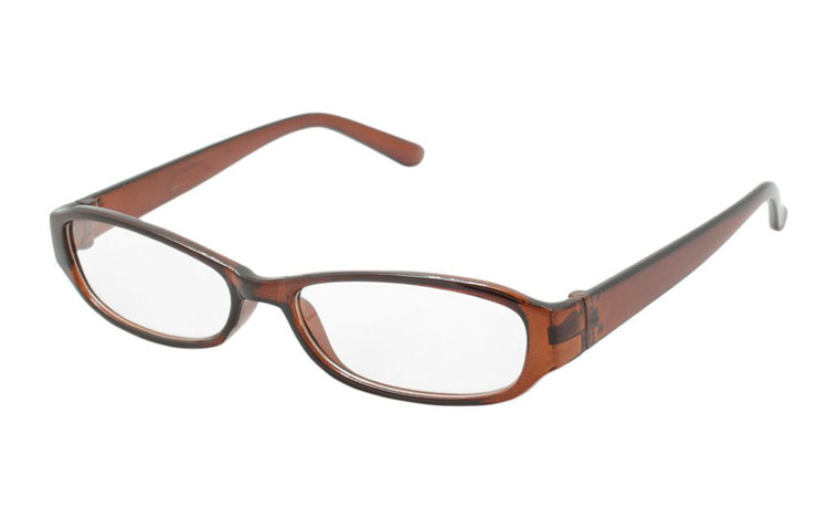 Orange transparent smal brille - Design nr. b291