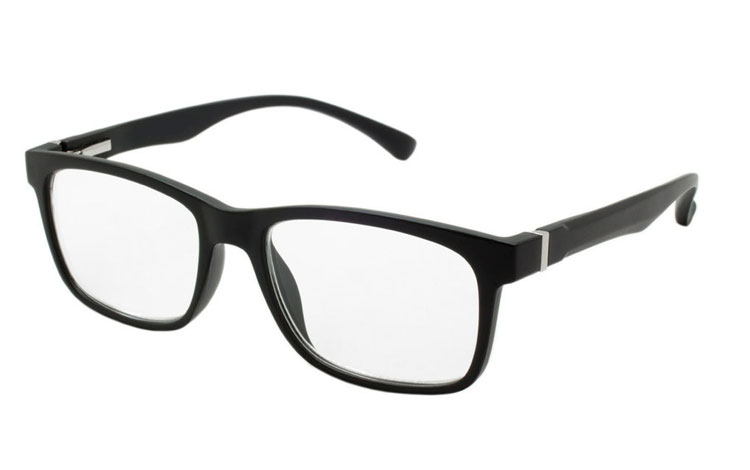 Stilet og maskulin brille i MAT sort stel. - Design nr. b295