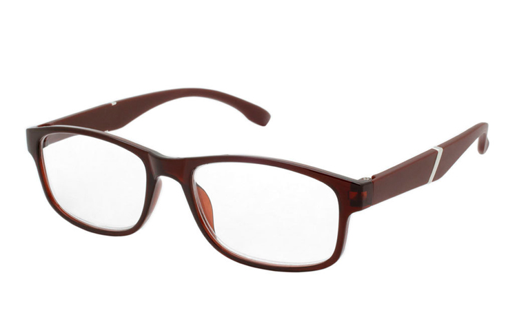 Brun-orange transparent brille med matte stænger - Design nr. b333
