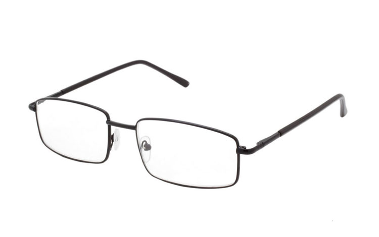Sort metal brille i let design - Design nr. b393
