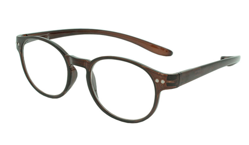 Smart brun rund brille i stilet design. - Design nr. b91