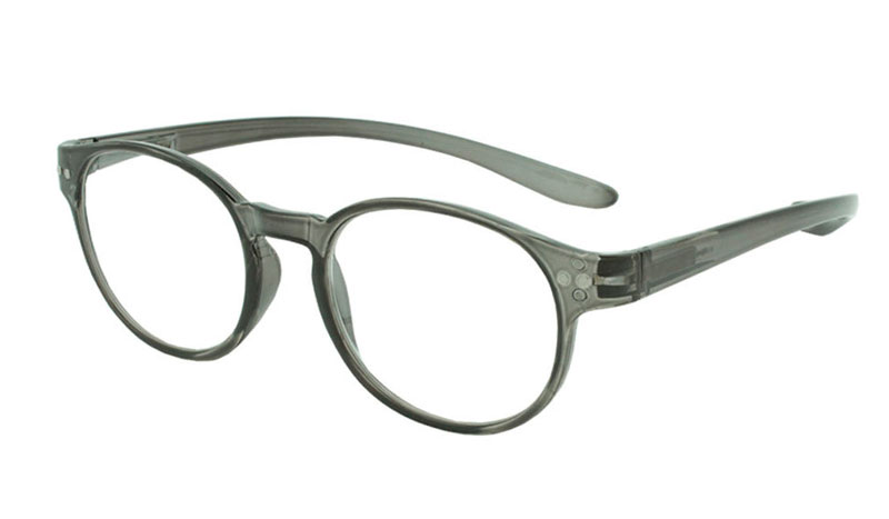 Smart grå-transparent rund brille i stilet design. - Design nr. b92